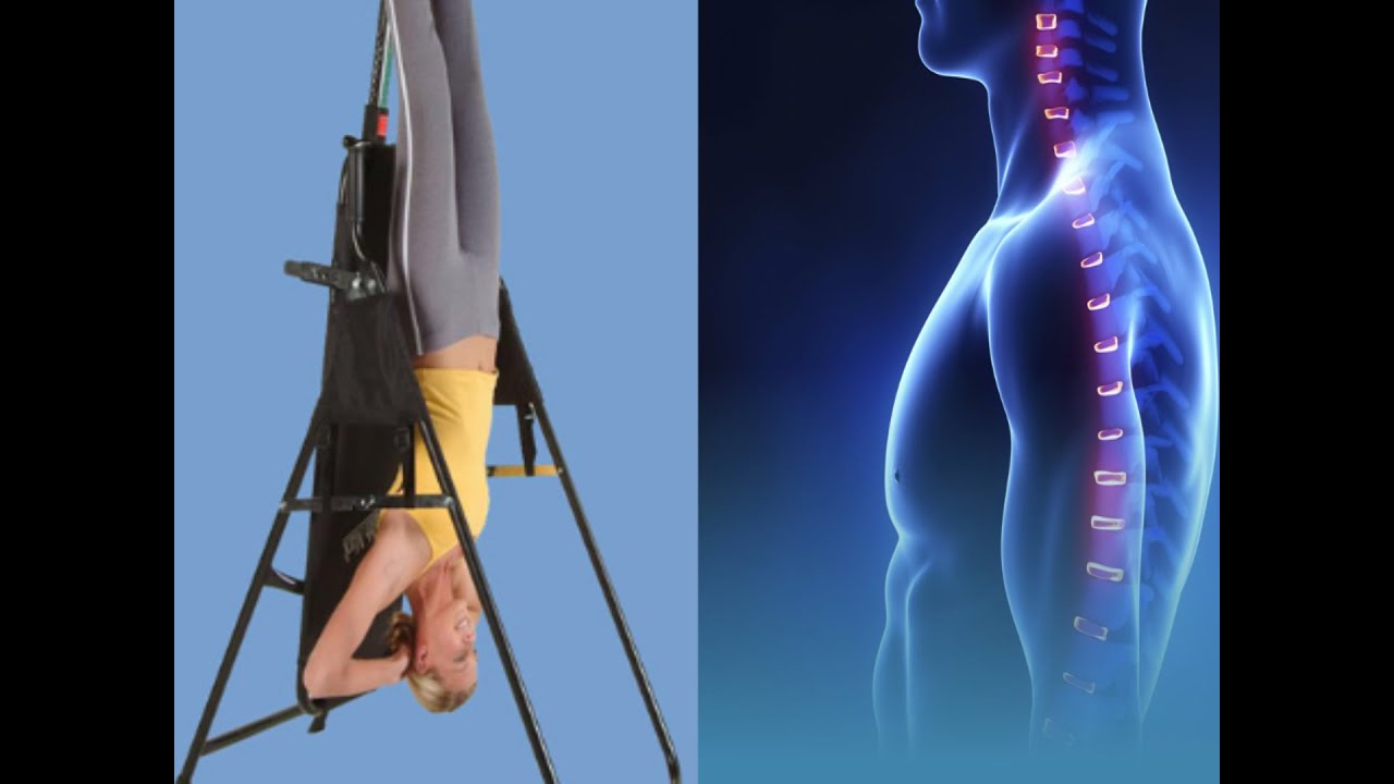 Hanging Upside Down Chair For Back As Seen On Tv Cover The Cons Pros To Inversion Therapy Spine Neck Pain Pinched Nerve Youtube