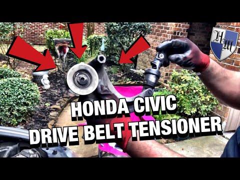 HONDA CIVIC DRIVE BELT TENSIONER – HOW TO REMOVE/INSTALL – 2007 HONDA CIVIC