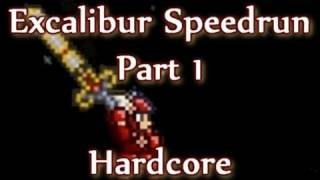 Terraria - Excalibur Hardcore Speedrun (Part 1)