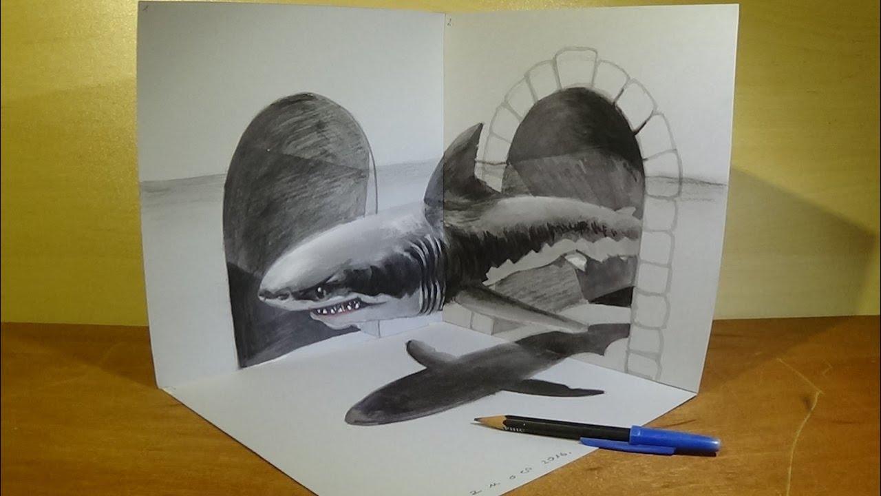 предлагает объемные рисунки животных только