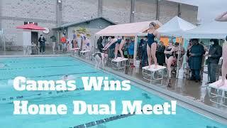 Camas Girls Swim Team Wins Home Dual Meet