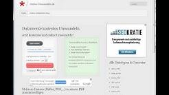 Dokumente einfach online Umwandeln - Anleitung