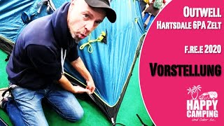 Vorstellung Zelt Outwell Hartsdale 6PA | f re e 2020 MUC | Happy Camping
