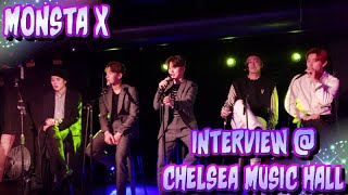 Monsta X Interview @ Chelsea Music Hall