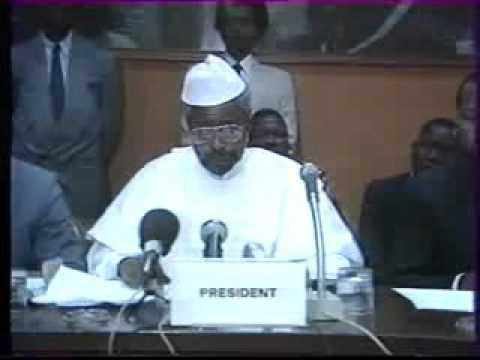 Discours du Président Hissei Habré au siege des pays ACP à Bruxelles