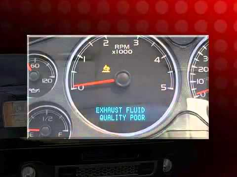 Maintaining the Diesel Exhaust Fluid on a GMC Sierra HD - YouTube