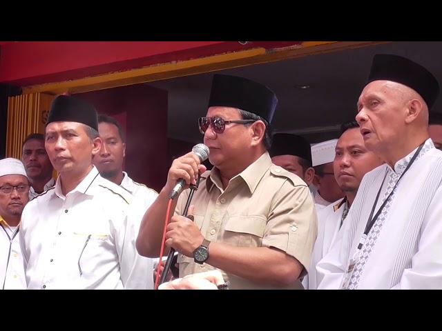Merinding... Mendengar Pidato Prabowo Subianto