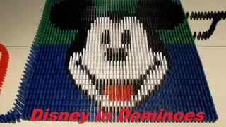 Walt Disney in 25,000 dominoes (collab with Sprice Machines)