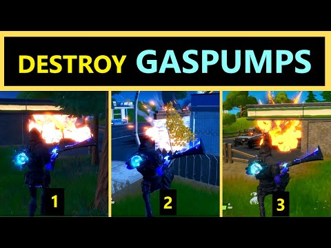 Destroy GAS PUMPS In Different Matches | Gas Pumps Fortnite Chapter 2 | Gas Pumps In Fortnite