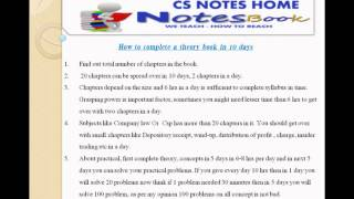 how to pass in cs exam how to complete a law theory subject in 10 days