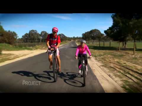 Carrie Bickmore rides with Sam