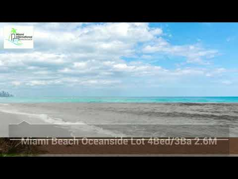 Miami Beach Oceanside Lot with Approved Plans to Build