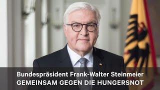 Gemeinsam gegen die Hungersnot: Frank-Walter Steinmeier appelliert