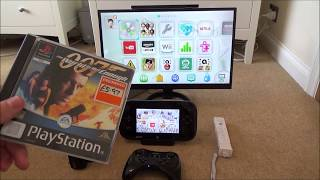 What Happens When you Play a PlayStation One game on the Wii U