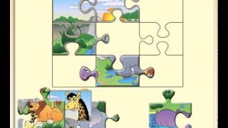 """Онлайн пазлы детские бесплатно онлайн играть - Пазл """"Животные Африки"""""""