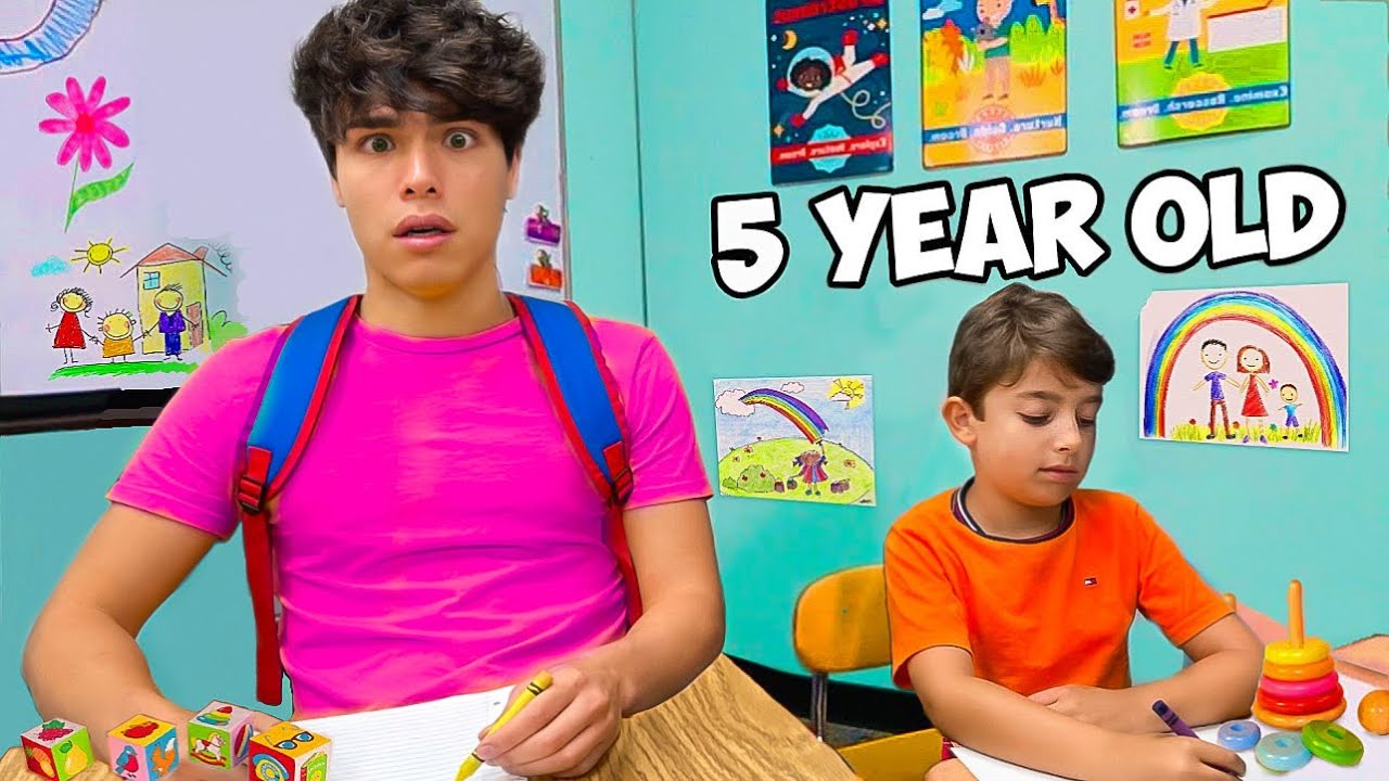 Going Back To KINDERGARTEN For A Day!