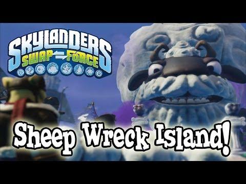 SHEEP WRECK ISLAND Gameplay - Let's Play Skylanders SWAP FORCE
