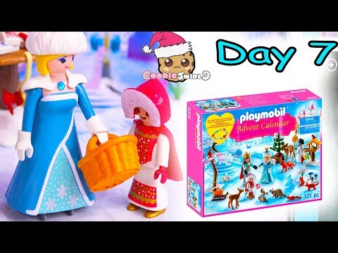Playmobil Holiday Christmas Advent Calendar Day 7 Cookie Swirl C Toy Surprise Video