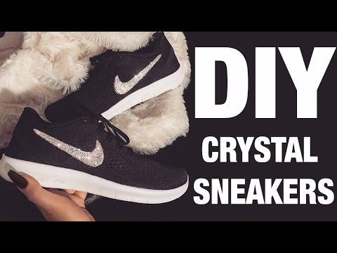 DIY CRYSTAL NIKES