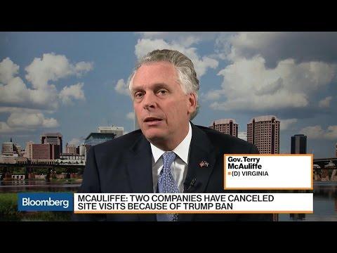 VA Gov. McAuliffe: Trump Ban Will Cripple Our Economy