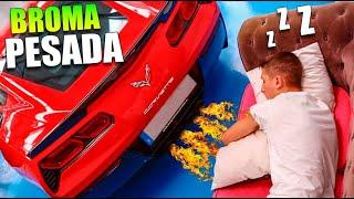 BROMA MUY PESADA !! DESPIERTO A MI HERMANO PEQUEÑO CON EL NUEVO SONIDO DE MI CORVETTE !! EPICO