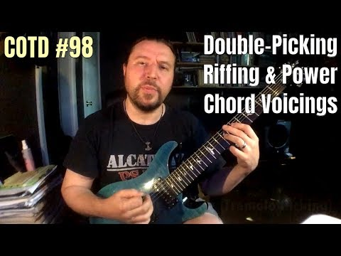 Double-Picking Riffing & Power Chord Voicings | ShredMentor Challenge of the Day #98
