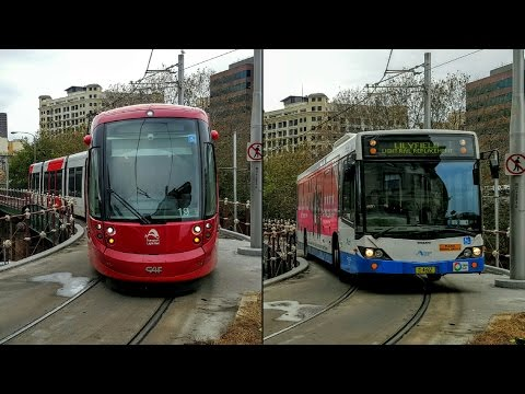 STV: Central - Buses On The Light Rail Track - Severe Weather