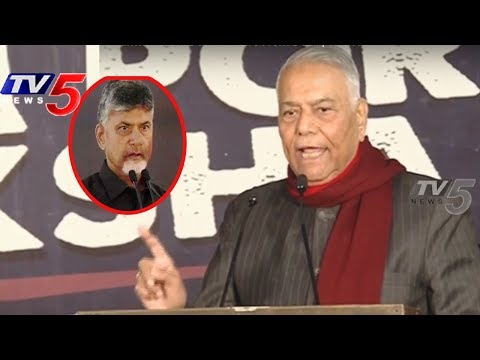 Yashwant Sinha Great Words About CM Chandrababu Naidu at TDP Dharma Porata Deeksha | TV5 News