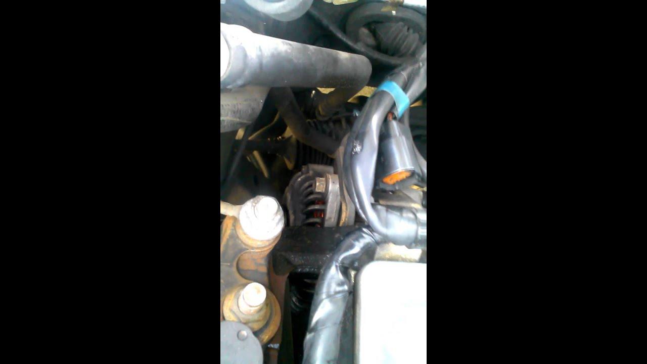 Mazda Protege 2000 16l Pulley Serpertine Belt Noise Youtube Mazdatributebeltdiagram Tags Belts Idler