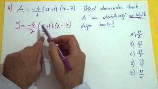 Parabol Soru Çözümü Şenol Hoca Matematik