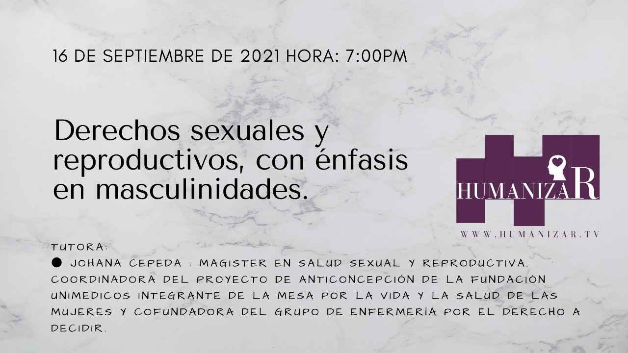 Derechos sexuales y reproductivos, con énfasis en masculinidades