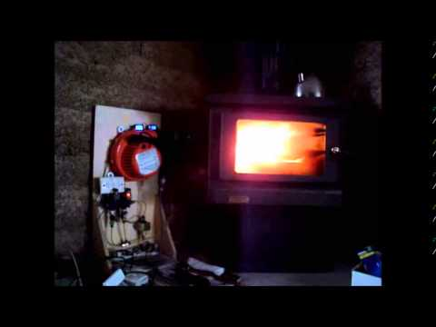 Oil burner Installed in home heating  wood stove V1 3