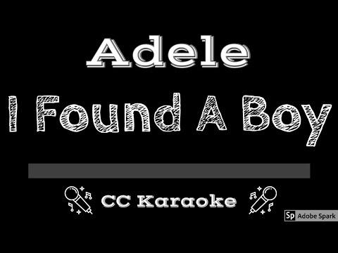 Adele   I Found A Boy CC Karaoke Instrumental