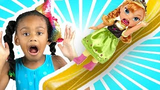 Baby Doll Toys    Anna Toddler Goes Down Slide