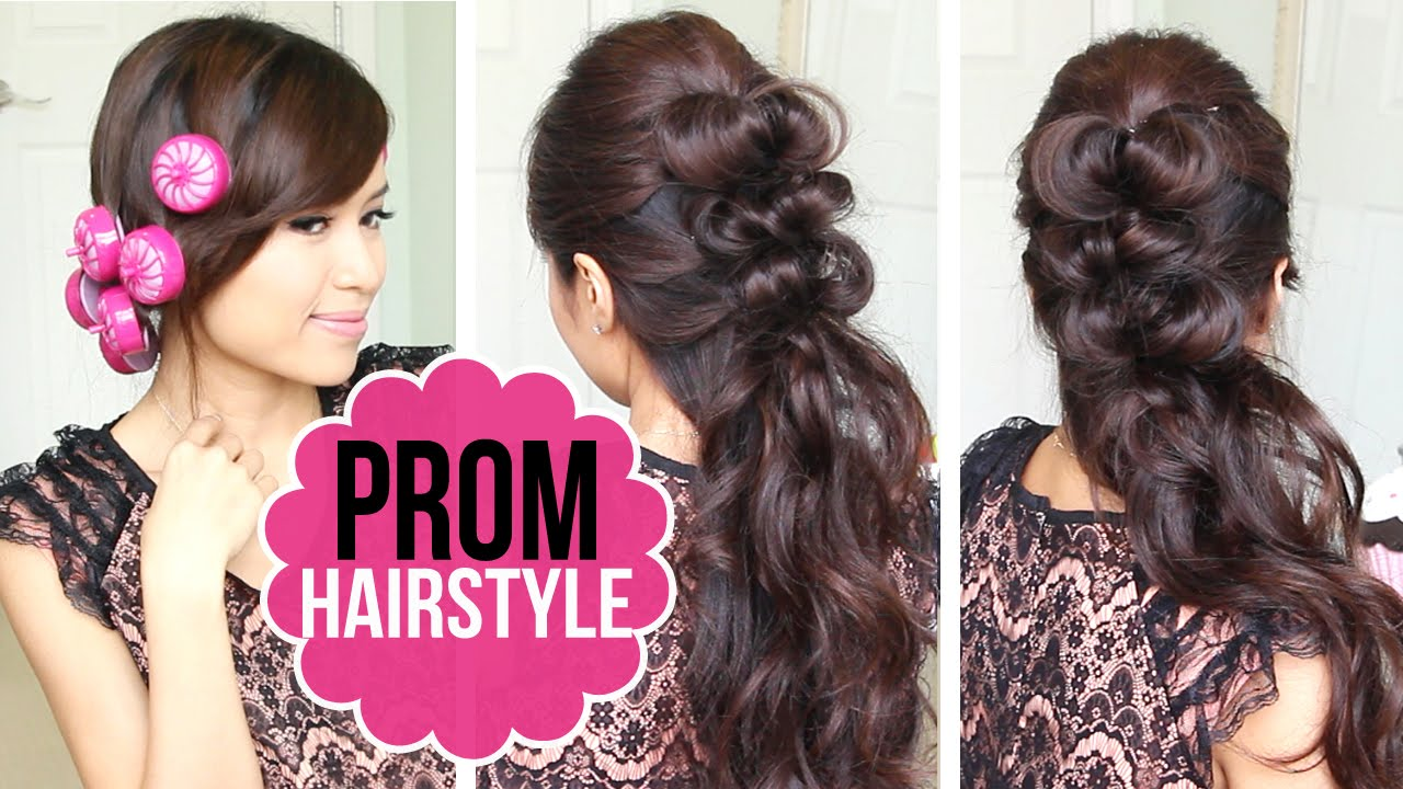 easy prom hairstyle updo
