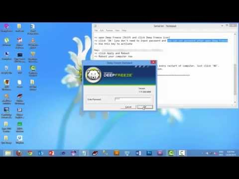 Install Deep Freeze Standard Edition with full Activate