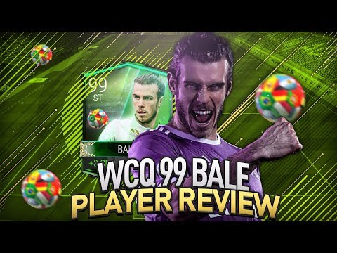 FIFA Mobile 99 OVR World Cup Qualifiers Bale Gameplay/Player Review!! Best Striker in Game?