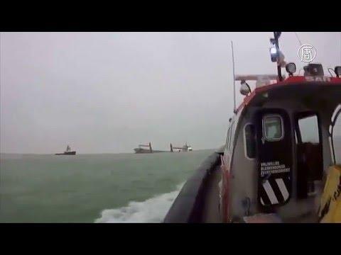 Столкновение судов в северном море