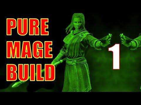 Skyrim Pure Mage Walkthrough NO WEAPONS NO ARMOR Part 1 - How To Do A Pure Mage Power Start!