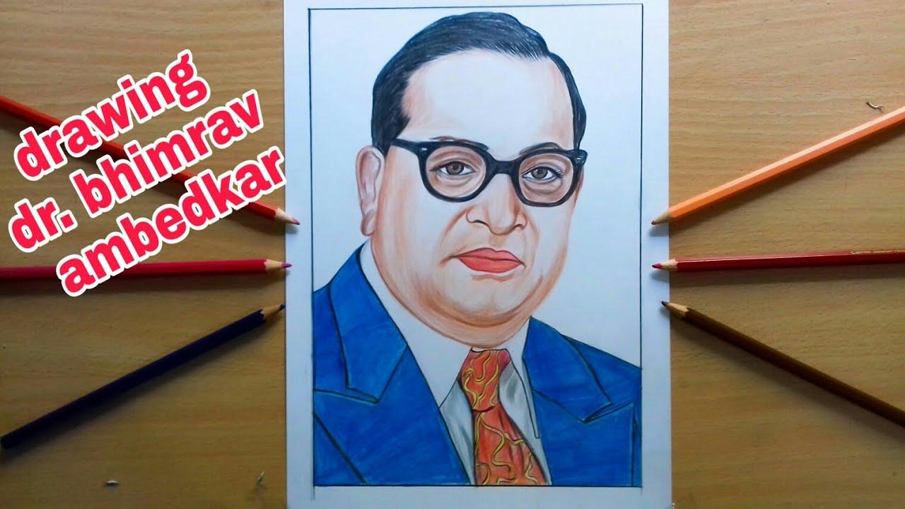 Drawing Dr Babasaheb Bhemrav Ambedkar Youtube