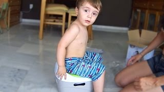 Testando Penico para sair das Fraldas - Desfralde do Marcos (Potty Training)