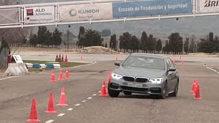 BMW 520d 2017 - Maniobra de esquiva (moose test) y eslalon   km77.com