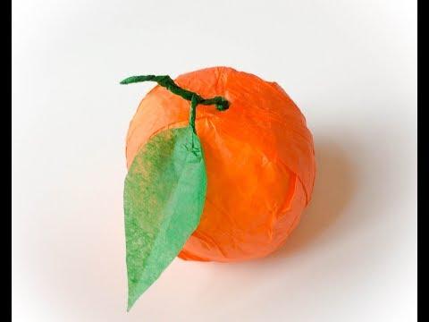Make  the paper orange. TUTO orange en papier.