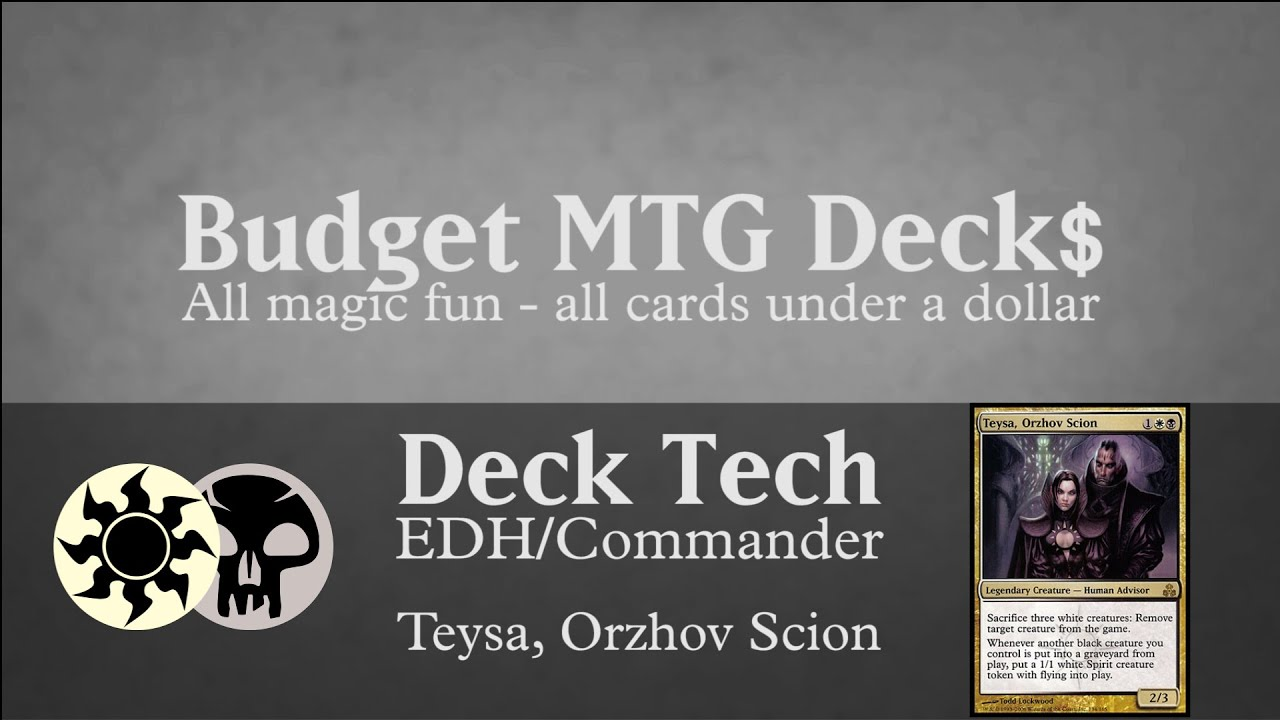 Budget Teysa Orzhov Scion Edh Commander Tokens Youtube After looking at it and asking some people still seems like teysa, orzhov scion is obv. youtube