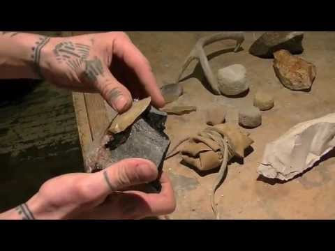 Native American Stone Work, flint knapping 1.