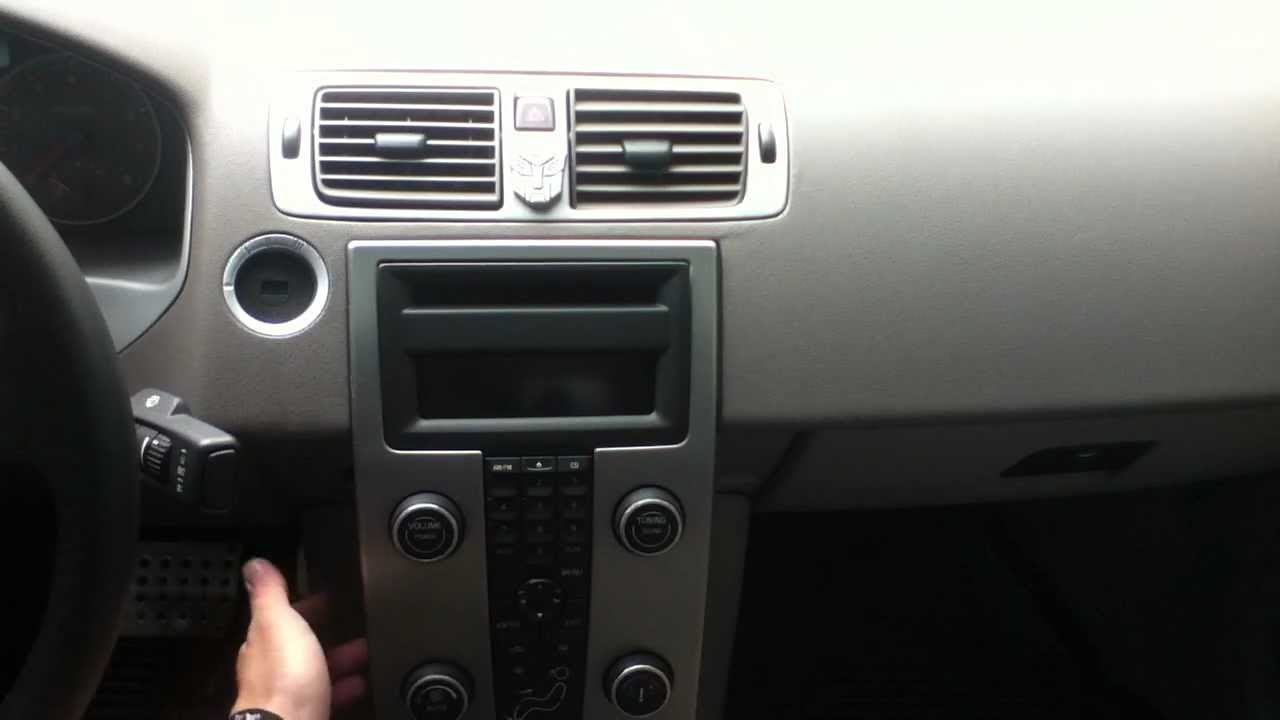 volvo s40, waterfall console removal - youtube
