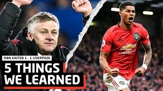 5 Things We Learned vs Liverpool | MUFC 1-1 LFC