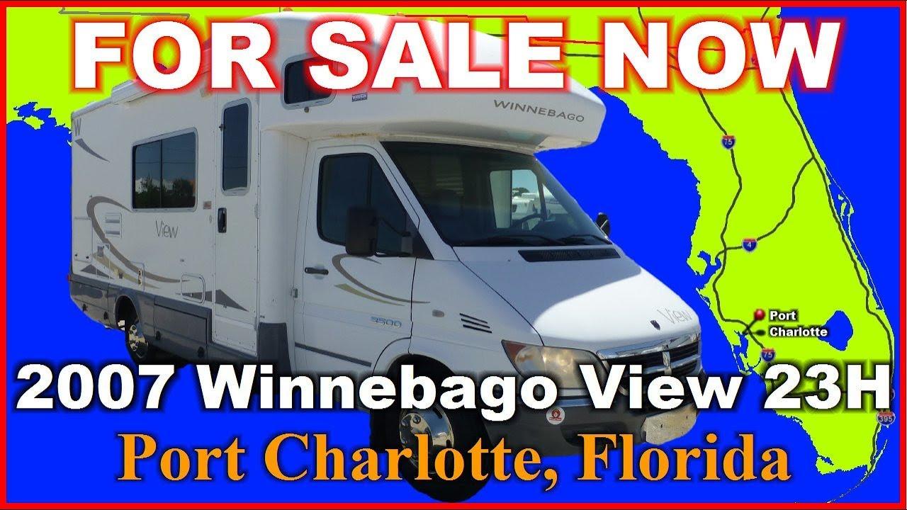 2007 Winnebago View 23h Used Class C Motorhome Florida Punta Gorda Port Charlotte Fort Myers