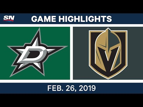 NHL Highlights | Stars vs. Golden Knights - Feb 26, 2019