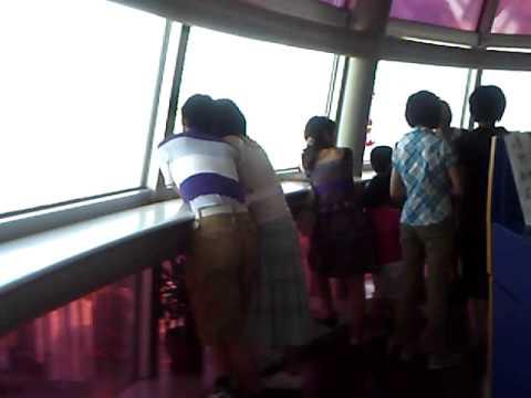 Pearl tower Shanghai space pod walk